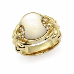 白蝶貝リング K18|jewelelegance