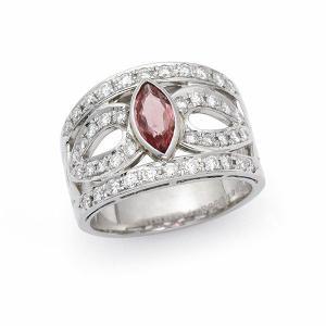 ピンクサファイヤ リング(加熱) / S-0.69カラット D-0.65カラット / プラチナ|jewelelegance