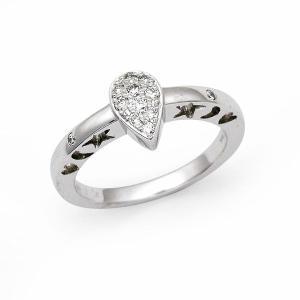 ダイヤ リング 0.14カラット K18ホワイトゴールド |jewelelegance