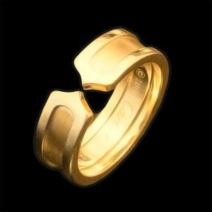 カルティエ C2リング YG750 K18イエローゴールド 54|jewelelegance
