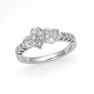 ダイヤ リング 0.30カラット K18 ホワイトゴールド|jewelelegance