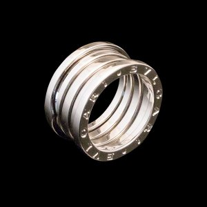 ブルガリ B.zero1 WG750 K18ホワイトゴールド 4バンドリング|jewelelegance