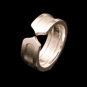 カルティエ C2リング WG750 K18 ホワイトゴールド|jewelelegance