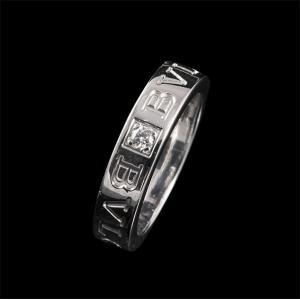 ブルガリ リング ダブルロゴ ホワイトゴールド WG 【中古】|jewelelegance
