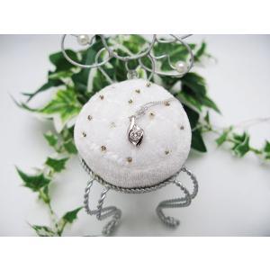 ホワイトゴールドダイヤモンドペンダント(K18)|jewelelegance