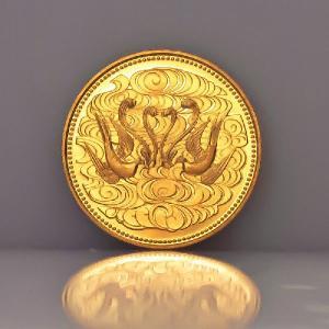 天皇陛下在位60年記念10万円金貨 【中古】|jewelelegance