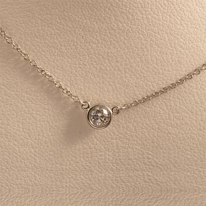Tiffany&Co. ティファニー バイザヤードネックレス PT950 / D|jewelelegance