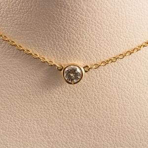 Tiffany&Co. ティファニー バイザヤードネックレス K18 YG / D|jewelelegance