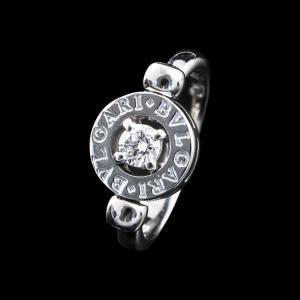 ブルガリ フリップ ダイヤ リング K18 WG 【中古】|jewelelegance