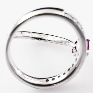 セスタ ディ カラッチ ハート 0.53ct ダイヤモンド 0.20ct リング K18WG 【中古】|jewelelegance|02