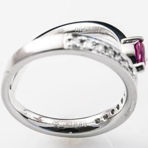 セスタ ディ カラッチ ハート 0.53ct ダイヤモンド 0.20ct リング K18WG 【中古】|jewelelegance|03