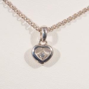 ハッピーダイヤモンド ハート 1P ダイヤ ペンダントネックレス 794854-1001(79/4854-20)  ホワイトゴールド K18(WG)|jewelelegance