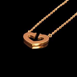 カルティエ Cハートオブカルティエ ペンダントチェーン ネックレス YG750 K18イエローゴールド|jewelelegance
