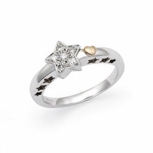 ダイヤ リング 0.12カラット K18 ホワイトゴールド jewelelegance