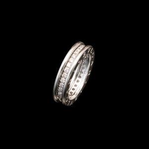 ブルガリ B.zero1 Diamond WG750 K18ホワイトゴールド 1バンドリング ダイヤモンド|jewelelegance