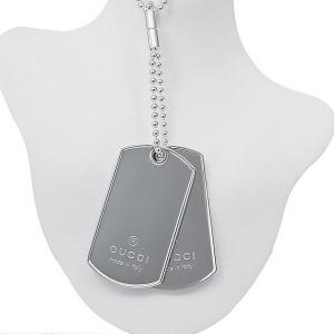 GUCCI グッチ ドッグタグ ダブル IDプレート ネックレス|jewelelegance
