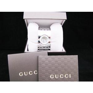 グッチ GUCCI  腕時計 ダイヤベゼルワイドバングルブラウン|jewelelegance