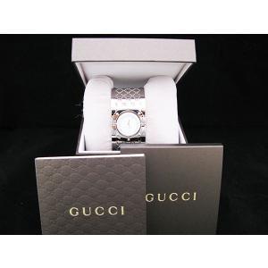 グッチ GUCCI 腕時計 ダイヤベゼルワイドバングルホワイトシェル|jewelelegance