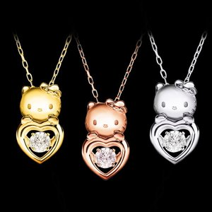 Hello Kitty ハローキティ K18 Diamond ダンシングストーン ペンダント|jewelplus