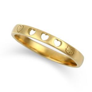 ハローキティ K18 ハートフルリング 指輪 ギフト 大人 カワイイ プレゼント レディース ジュエリー【代引き不可】|jewelplus