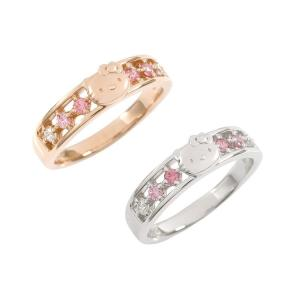 ハローキティ ピンクレインボー リング  指輪 ギフト 大人 グッズ プレゼント 女性 レディース ジュエリー|jewelplus