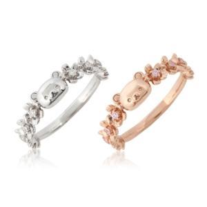 リラックマ さくら リング 指輪 大人 かわいい グッズ プレゼント ギフト 誕生日 ジュエリー アクセサリー|jewelplus