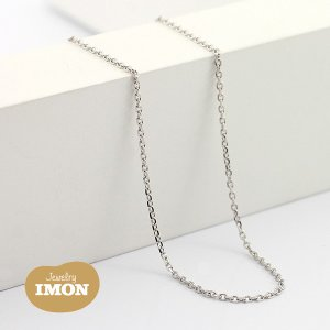 K18WG 角小豆 ネックレス 0.28φ 45cm|jewelry-imon