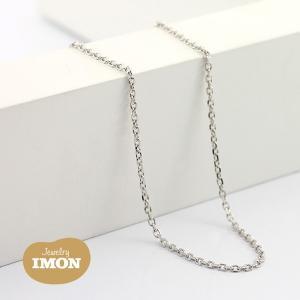 K18WG 角小豆 ネックレス 0.34φ 45cm|jewelry-imon