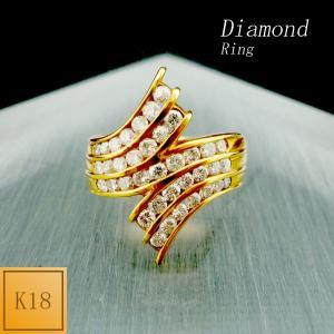 リング レディース ダイアモンド 4月 誕生石 18金 K18 jewelry-matumoto