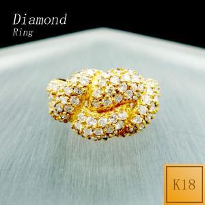 リング レディース ダイアモンド 4月 誕生石 ダイヤモンド 18金 K18 ○ jewelry-matumoto