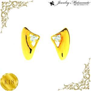 ピアス レディース ダイアモンド 4月 誕生石 ダイヤモンド 18金 K18 jewelry-matumoto