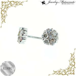 ピアス レディース ダイアモンド 4月 誕生石 ダイヤモンド 0.3ct(トータル) 18金ホワイトゴールド K18WG jewelry-matumoto