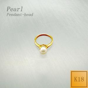 ペンダント レディース ベビーリング型 パール 6月 誕生石 (チェーンなし) ペンダントヘッド ペンダントトップ 18金 K18|jewelry-matumoto