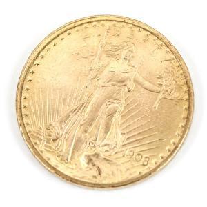 アメリカ製の20ドルコイン。 年号は1922年【女神 (立像) 】の名称で有名な一品です。