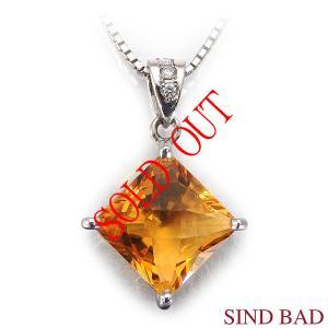 シトリントパーズ ペンダント トップ 2.675ct ネックレス プラチナ ペンダント ダイヤ 0.024ct 11月誕生石 誕生日 プレゼント ※カケあり|jewelry-sindbad