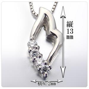 ダイヤモンド プラチナ ネックレス ペンダント 0.07ct ダイヤモンド【ダイヤモンド】 jewelry-sindbad 02