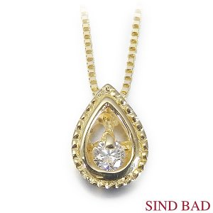 ●ダイヤモンド:0.03ct ●素材(ペンダントヘッド・チェーン):K18イエローゴールド ●寸法:...
