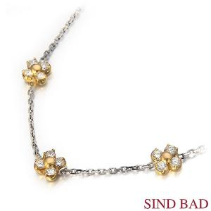 ダイヤモンド Pt850/K18 ペンダント 0.450ct 誕生日 プレゼント【ダイヤモンド ネックレス】|jewelry-sindbad