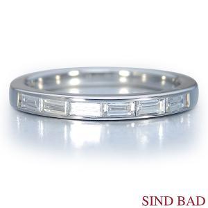 ハーフエタニティ-Pt900 プラチナ ダイヤモンド- (0.276ct) エメラルドカット (サイズ10.5号限定) 誕生日 プレゼント 記念日|jewelry-sindbad
