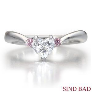 ハートシェイプ ピンクダイヤモンド 0.359ct F SI2 HEART BRILLIANT 指輪 中央宝石研究所鑑定書付き jewelry-sindbad