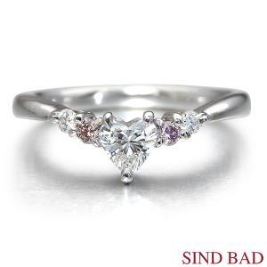 ハートシェイプ ピンクダイヤモンド 指輪 0.251ct F VVS-2 HEART BRILLIANT 婚約指輪 中央宝石研究所鑑定書付き jewelry-sindbad