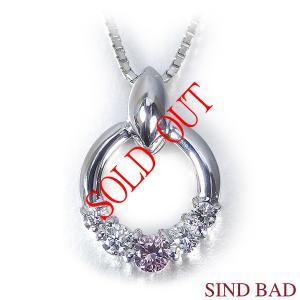●ピンクダイヤモンド:0.05ct  ●無色ダイヤ:0.110ct    ●素材(ペンダントヘッド)...