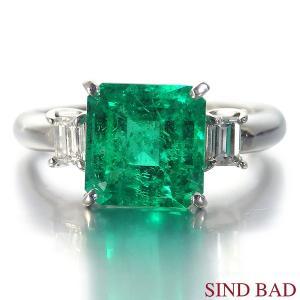 エメラルド 指輪  プラチナ エメラルド 2.280ct ダイヤ 0.222ct 【エメラルド】|jewelry-sindbad