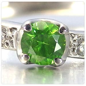 デマントイドガーネット 0.134ct 指輪 プラチナ リング ガーネット 0.134ct ダイヤ 0.095ct jewelry-sindbad 02