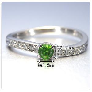 デマントイドガーネット 0.134ct 指輪 プラチナ リング ガーネット 0.134ct ダイヤ 0.095ct jewelry-sindbad 03