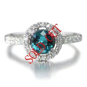 グランディディエライト 指輪 プラチナ リング グランディディエライト 0.622ct ダイヤモンド 0.162ct 中央宝石研究所鑑別書付き|jewelry-sindbad