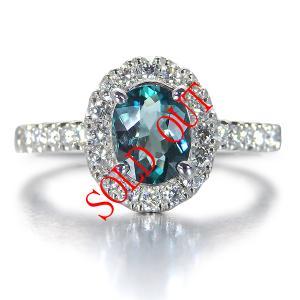 グランディディエライト 指輪 プラチナ リング グランディディエライト 0.678ct ダイヤモンド 0.31ct 中央宝石研究所鑑別書付き|jewelry-sindbad