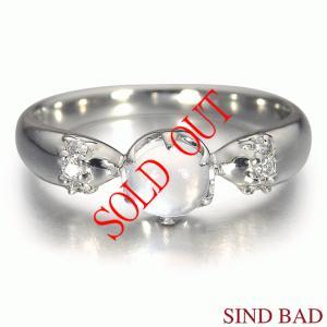 ブルームーンストーン 0.389ct 指輪 プラチナ 6月 誕生石 ムーンストーン|jewelry-sindbad