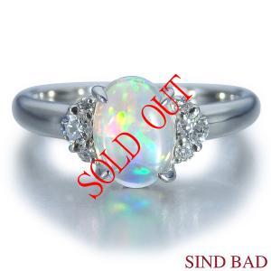 メキシコオパール 指輪 プラチナ リング 0.934ct|jewelry-sindbad