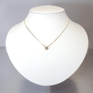 アクアマリン ネックレス K18 イエローゴールド ペンダント アクアマリン 0.19ct ダイヤ 0.05ct|jewelry-sindbad|05